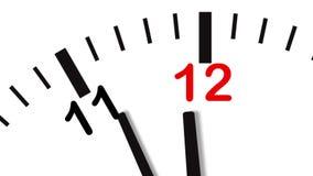 Video 4K der Uhrnahaufnahme lizenzfreie abbildung