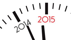Video 4K des Uhrcountdowns von Jahr 2014 bis 2015 stock video