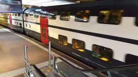 Video 4K UHD einer Bahnstation von Bern stock footage