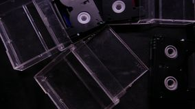 Video- Kassette Mini-dv Kamera 4k UHD stock footage
