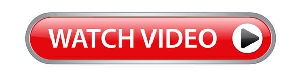 Video knapp för klocka royaltyfri illustrationer