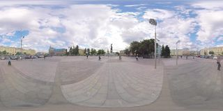 Video 360 Konstitutions-Quadrat stock video footage