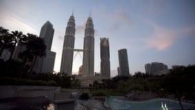 Kuala Lumpur Towers Day to Night Timelapse stock video