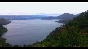 Video of Lake Toba. stock video footage