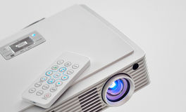Video led projector. For work presentation or home cinema royalty free stock photography
