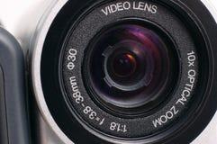 Video lens. Video camera lens close up or macro Stock Photos