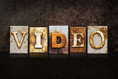 Video Letterpress Concept on Dark Background Royalty Free Stock Photography
