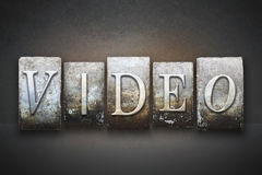 Video Letterpress Stock Photography