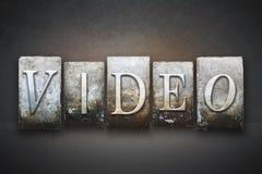 Video Letterpress Stock Photography