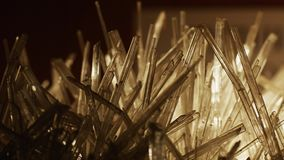 Beautiful white crystals. stock footage