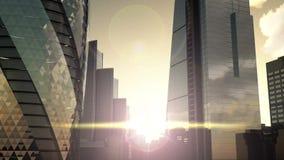 London sunset landscape stock footage