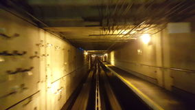 Video of a long tunnel stock footage