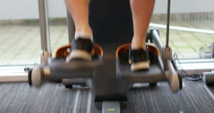 Video of male legs on gym machine stock video footage