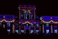 Video-Mapping on the Facade of Palace Stock Image