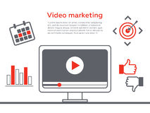 Video marketing. Abstract  concept background. Goal and target, aim and camera internet marketing. Video marketing. Abstract  concept background. Goal and target Stock Photos