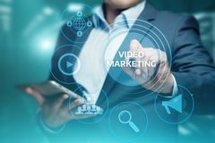 Video Marketing Advertising Businesss Internet Network Technology Concept Stock Photos
