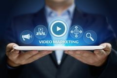 Video Marketing Advertising Businesss Internet Network Technology Concept.  royalty free stock image