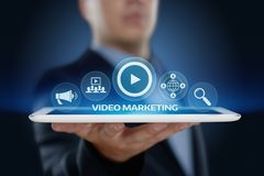 Video Marketing Advertising Businesss Internet Network Technology Concept Stock Image