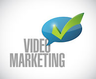 Video marketing approval message sign Royalty Free Stock Image