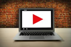 VIDEO MARKETING Audio Video , market Interactive channels , Business Media Technology innovation Marketing technology concept. D royalty free stock images
