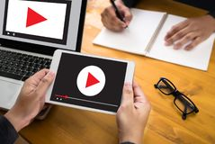 VIDEO MARKETING Audio Video , market Interactive channels , Bu. Siness Media Technology innovation Marketing technology concept stock photo