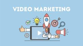 Video marketing concept stock illustratie