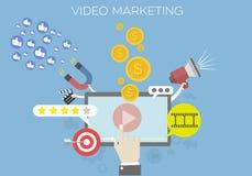 Video Marketing Concept. Detailed illustration of a Video Marketing concept, social network and media communication Royalty Free Illustration