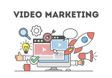 Video marketing concept. Stock Images