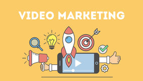 Video marketing concept. Royalty Free Stock Photos