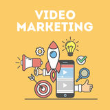 Video marketing concept. Stock Photography