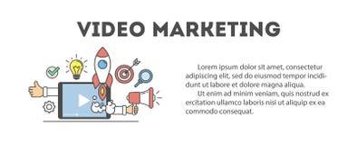 Video marketing concept. Stock Image