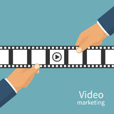 Video marketing concept. Royalty Free Stock Images