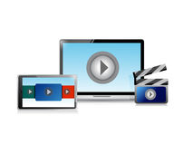 Video marketing concept illustration Royalty Free Stock Photos