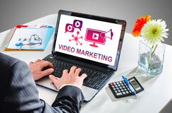 Free Video Marketing Concept On A Laptop Screen Royalty Free Stock Image - 216842496