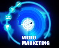 Video Marketing concept plan graphic. Background Royalty Free Stock Photos