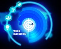 Video Marketing concept plan graphic. Background Stock Photo