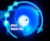 Video Marketing concept plan graphic. Background Stock Images