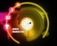 Video Marketing concept plan graphic. Background Royalty Free Stock Photo