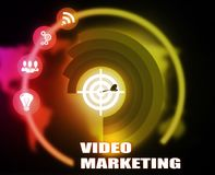 Video Marketing concept plan graphic. Background Stock Photos