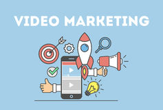 Video marketing concept. stock illustration