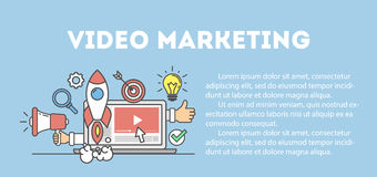 Video marketing concept. Stock Image
