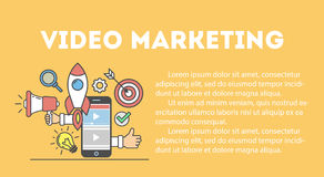 Video marketing concept. Royalty Free Stock Photo