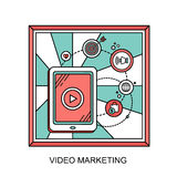 Video marketing concept Royalty Free Stock Image