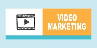 Video Marketing concept. Illustration with different colored squares vector illustration