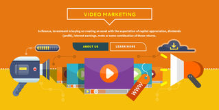 Video Marketing Concept voor Banner, Presentatie stock illustratie