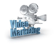 Video Marketing 3d word concept. Over white Stock Image