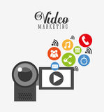 video marketing design Stock Photo