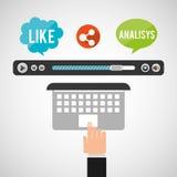 video marketing design vector illustration