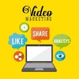 Video marketing design Royalty Free Stock Photos