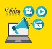 Video marketing design Stock Image